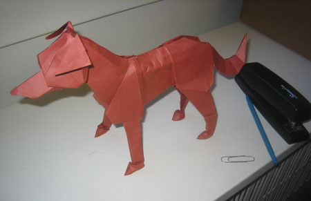 Origami Dog Tutorial: Labrador (Steven Casey) - YouTube | 291x450