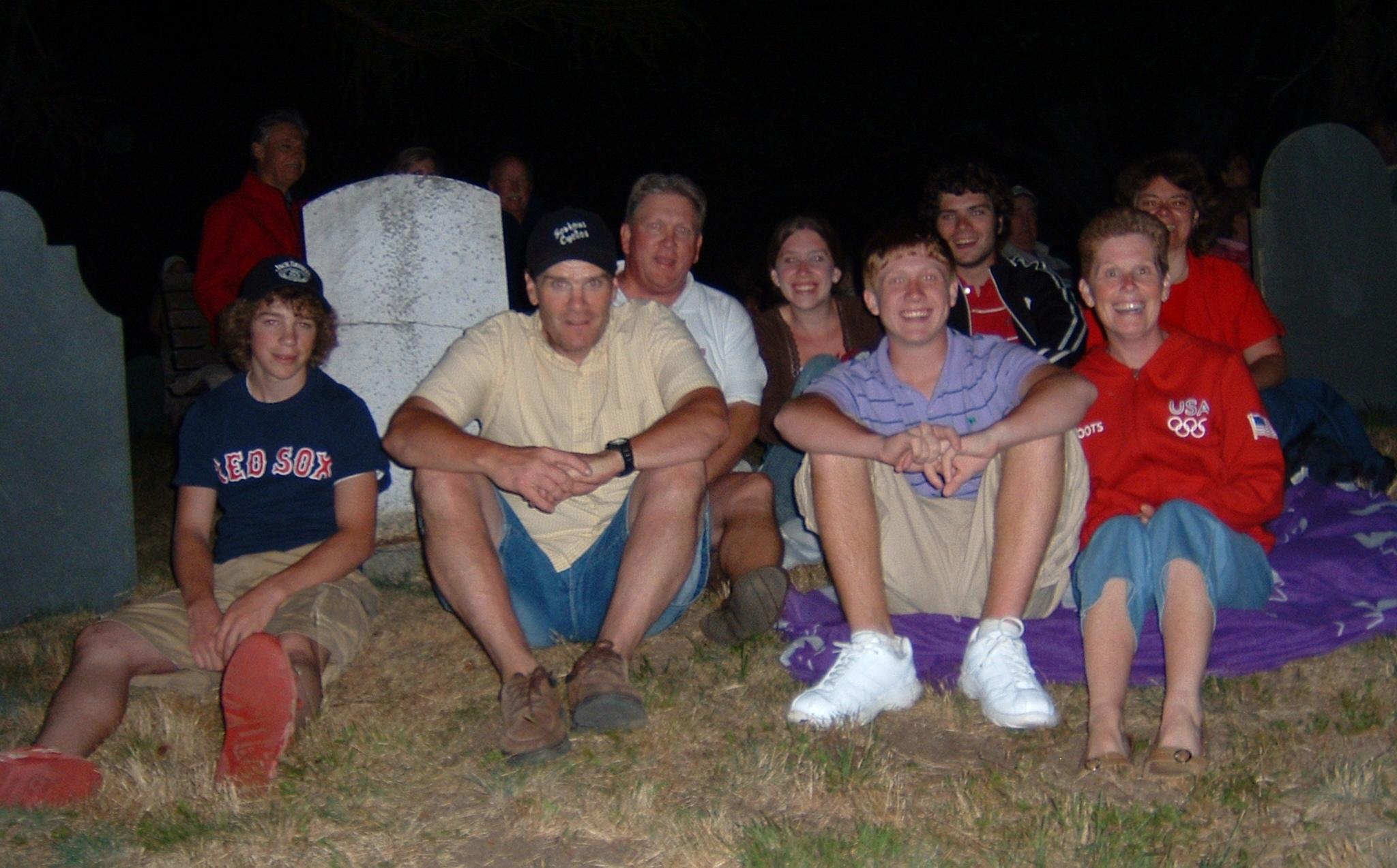 family at fireworks