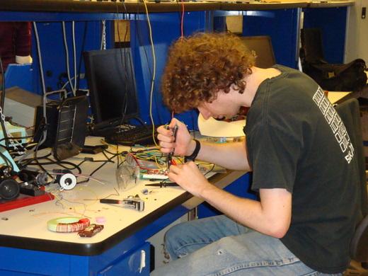 Noah S. '10 -- Hard at work