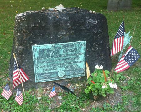 The grave of Samuel Adams