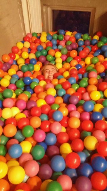 The enormous ball pit in Simmons