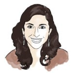 Illustration of Mitra L. '07