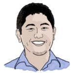 Illustration of Mikey Yang '05