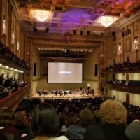 the movie psycho being shown at symphony hall