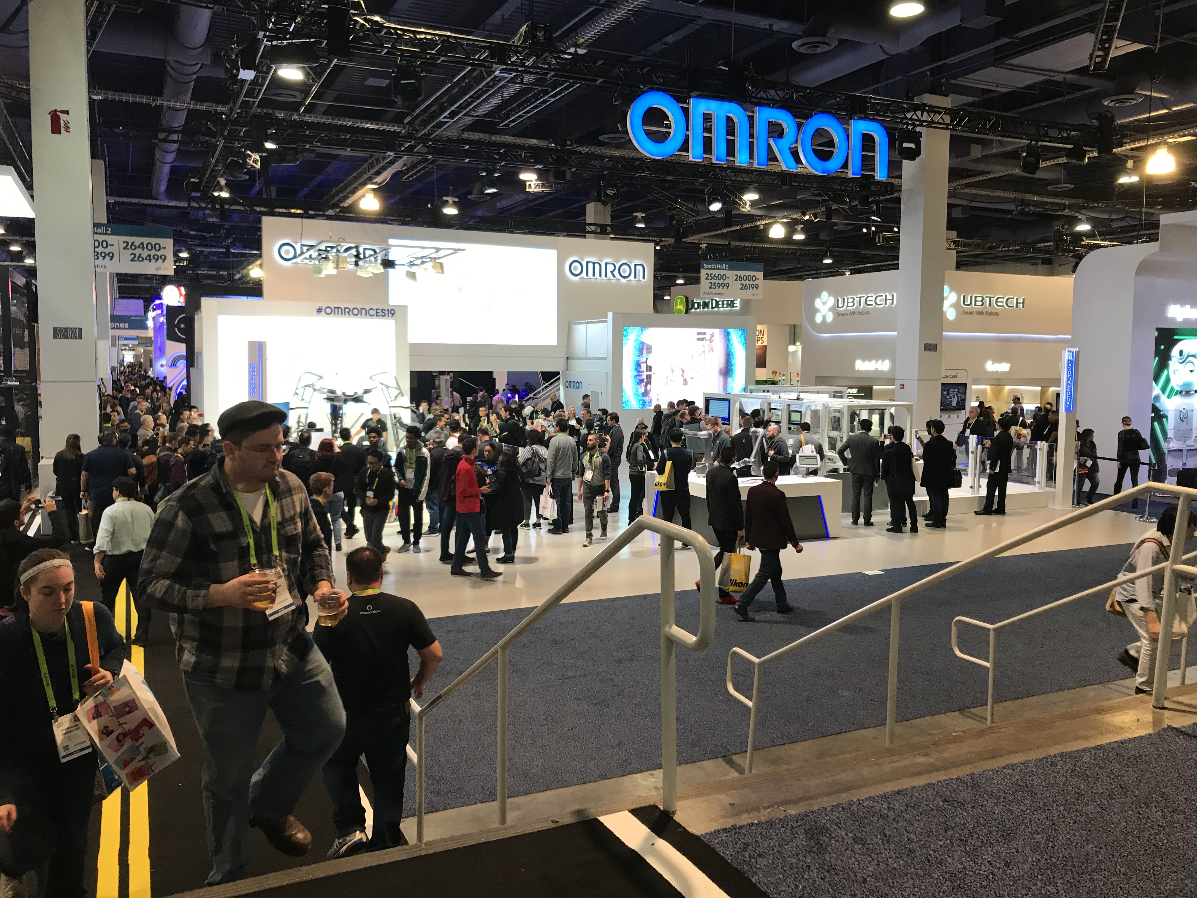 a crowd of ces attendees