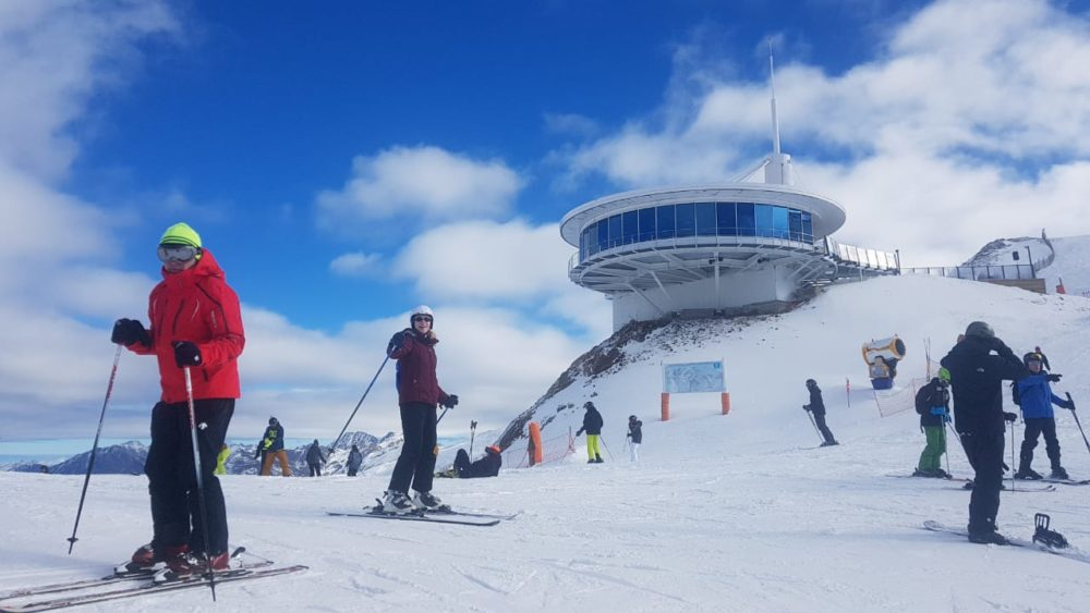 The top of one of the ski slopes at Grau Roig