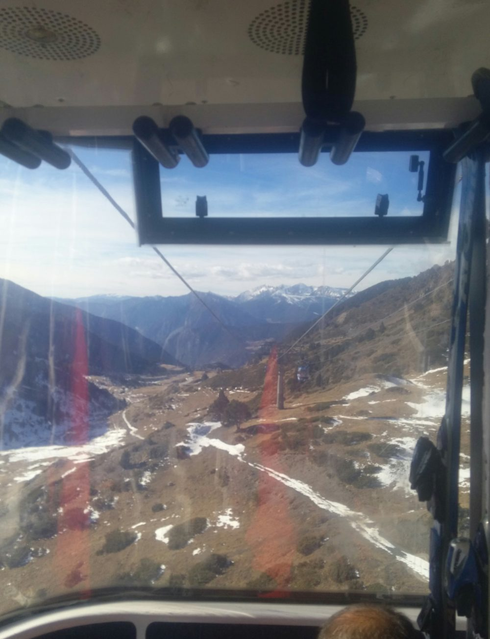 View from the funicular between Encamp and Grandvalira