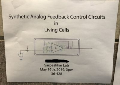 synthetic analog feedback control circuits in living cells