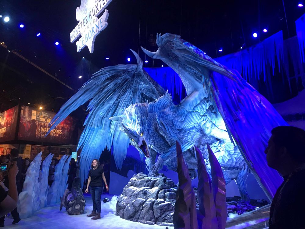 capcom brought a whole ass dragon to e3 i guess