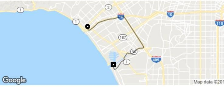 uber trip from santa monica to marina del rey