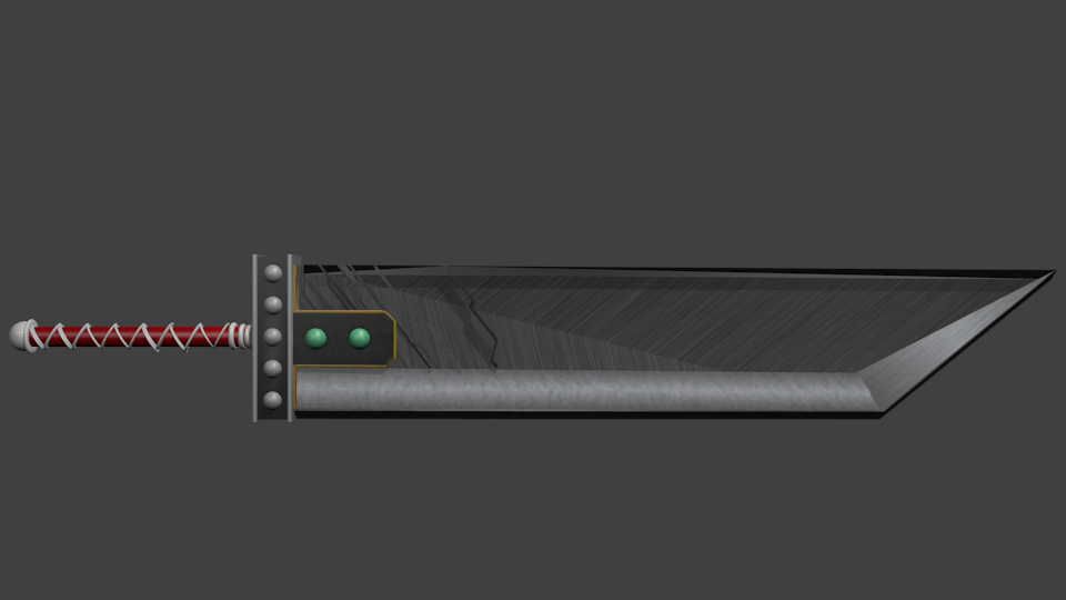 model of buster sword in blender