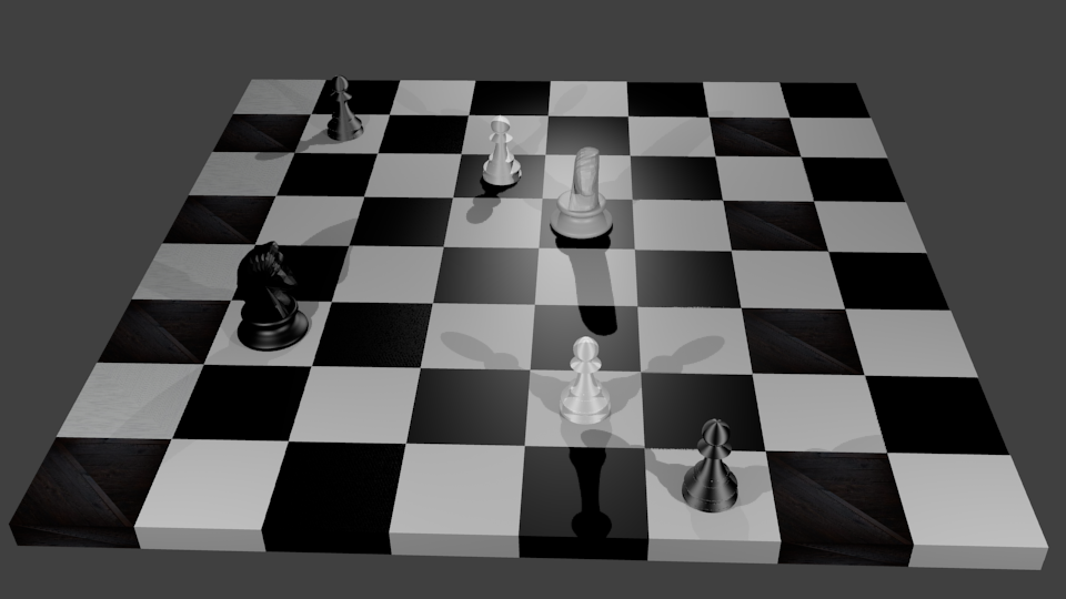 chessboard made in blender