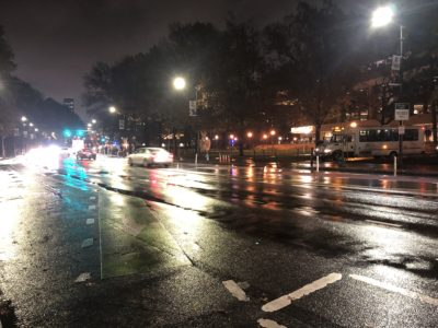 Picture of Massachusetts Ave and the Stud at night