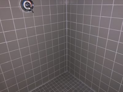Picture of an empty shower