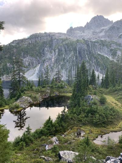 an alpine lake