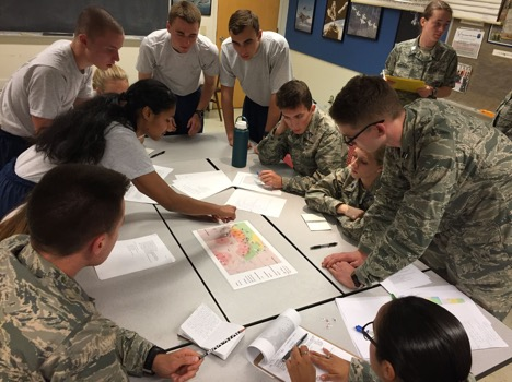 "At last week's LLAB, we worked as a team to learn ""Wargaming,"" which is like a more complex game of Risk but with actual Air Force assets. It mimics the operations of the Air Force in areas of conflict."