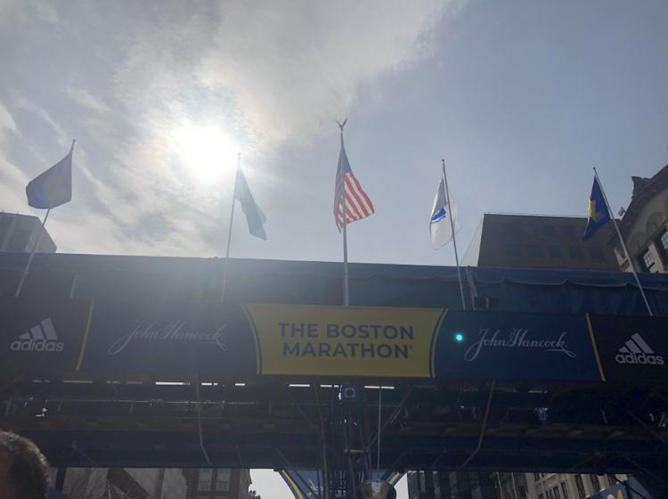 photo of boston marathon finish line