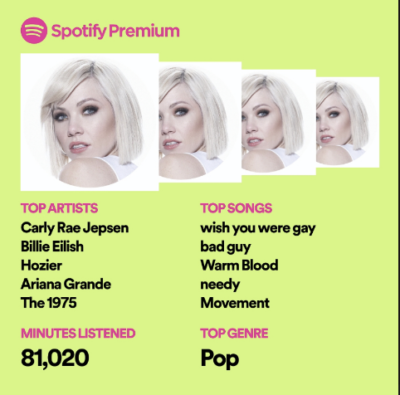 sabrina's spotify wrapped 2019