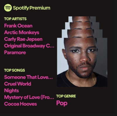 sabrina's spotify wrapped decade