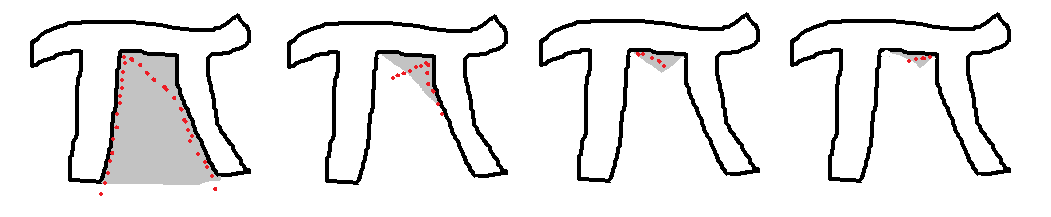 a drawing of the cutting pattern i used to cut into the pi shape, made in paint