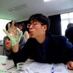 Photo by Rachel Reed of student in GTL Korea during IAP 2016