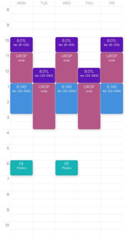 my iap schedule!