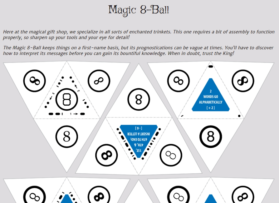 screenshot of the webpage https://pennypark.fun/puzzle/magic_8ball/
