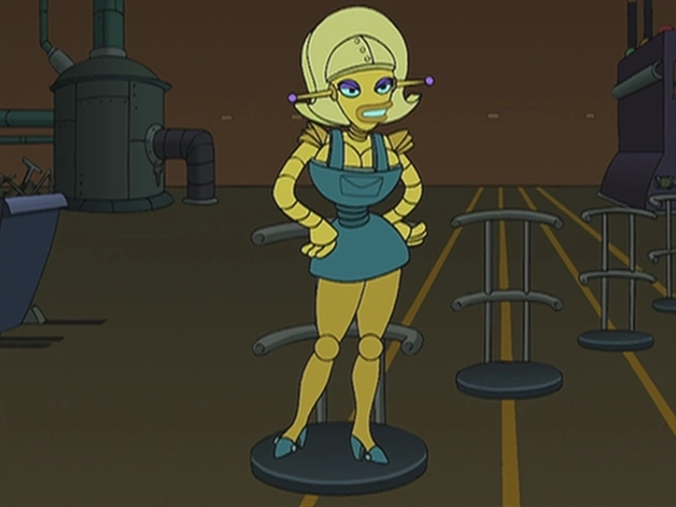 a picture of angelyne from futurama.