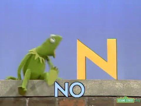 kermit the frog saying no