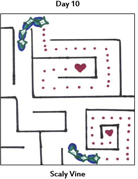 strings of pockets navigating a maze