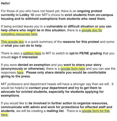 protest organization