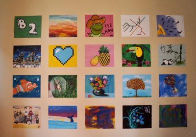 20 paintings mural