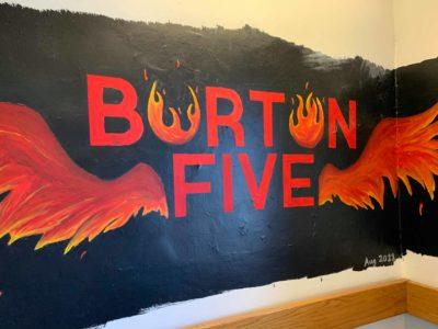 burton 5 stairwell mural