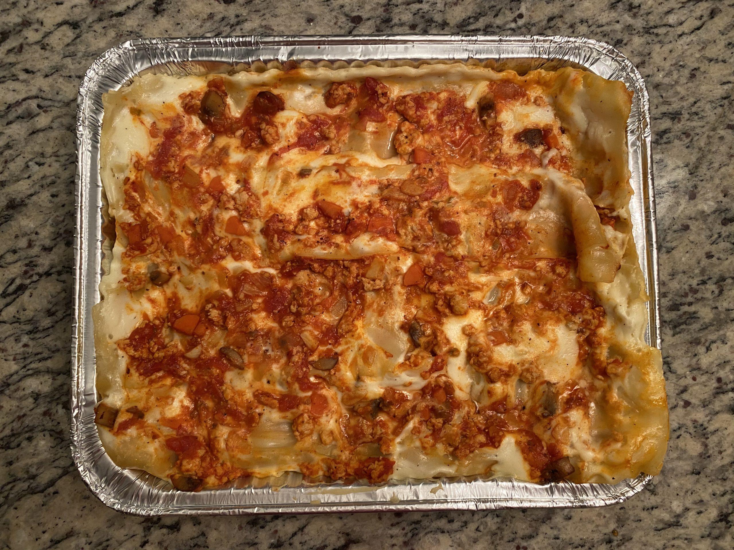 lasagna top view