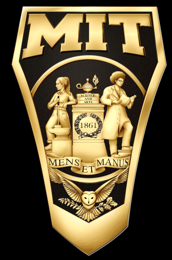 One side (shank) of the ring, featuring the MIT seal.