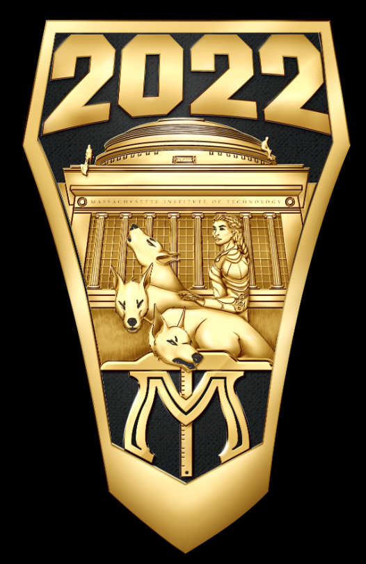 One side (shank) of the ring, with a big 2022 and Athena and Cerberus in front of the Great Dome.