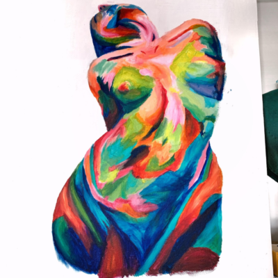 Surrealism commentary on female sexuality by Sammi Cheung '22