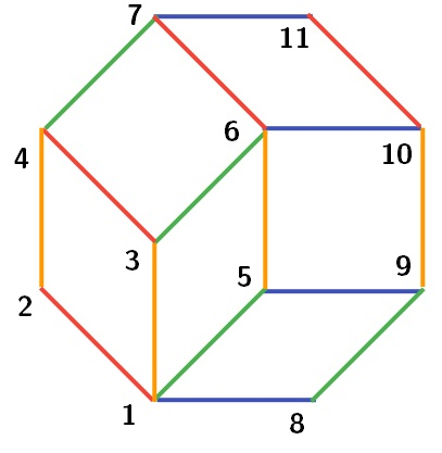 numbering the 11 vertices in the tiling