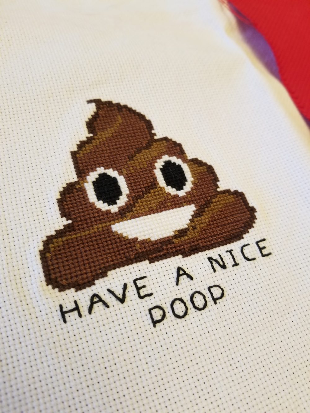 Poop Cross Stitch