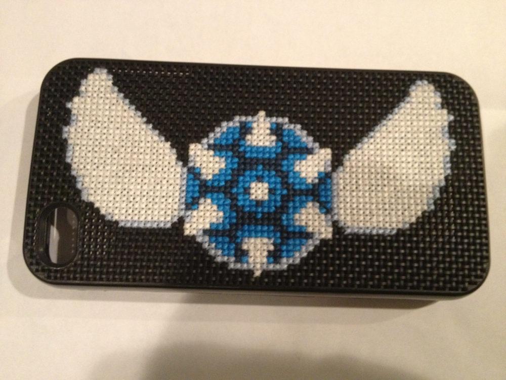 iPhone Blue Shell Cross Stitch