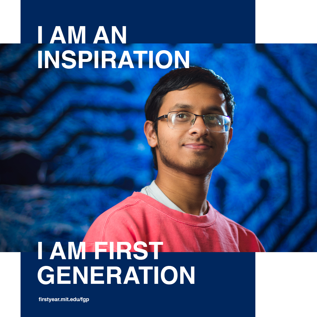 Images of students in the First Generation Program smiling