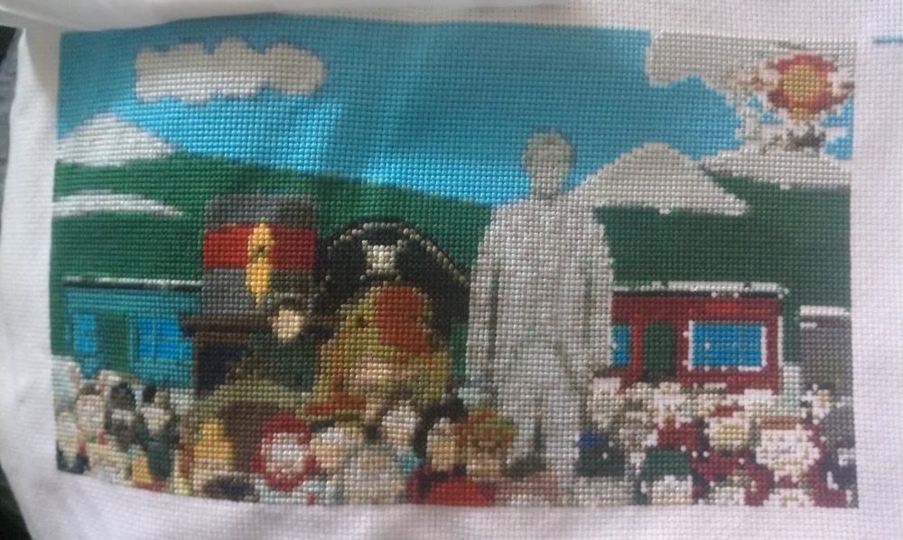 South Park Cross Stitch Mural