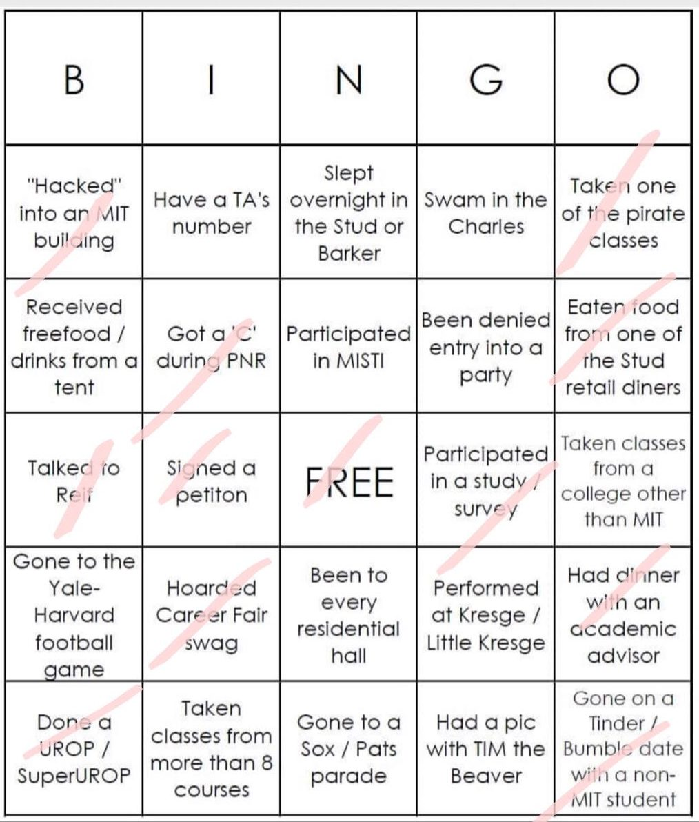 Cami's white bingo. She did not get bingo.