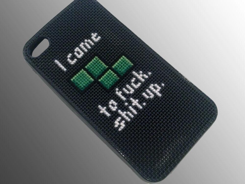 iPhone Case Tetris Cross Stitch