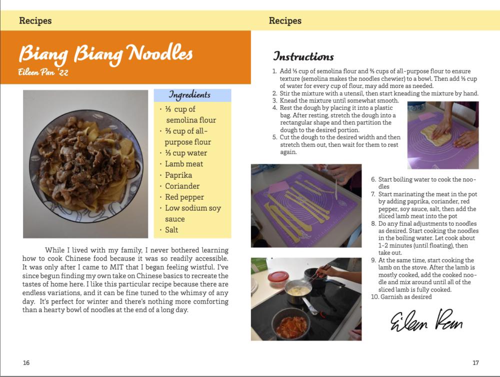 screenshot of the cookbook