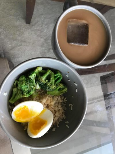 brown rice and broc