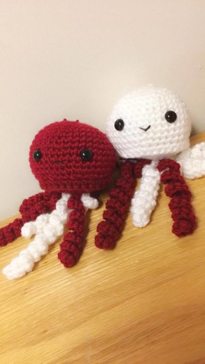 knitted octopi
