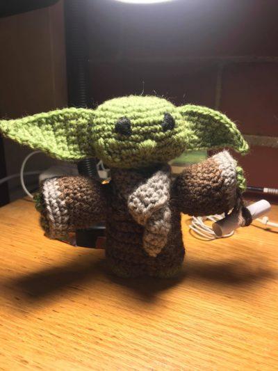 knitted yoda