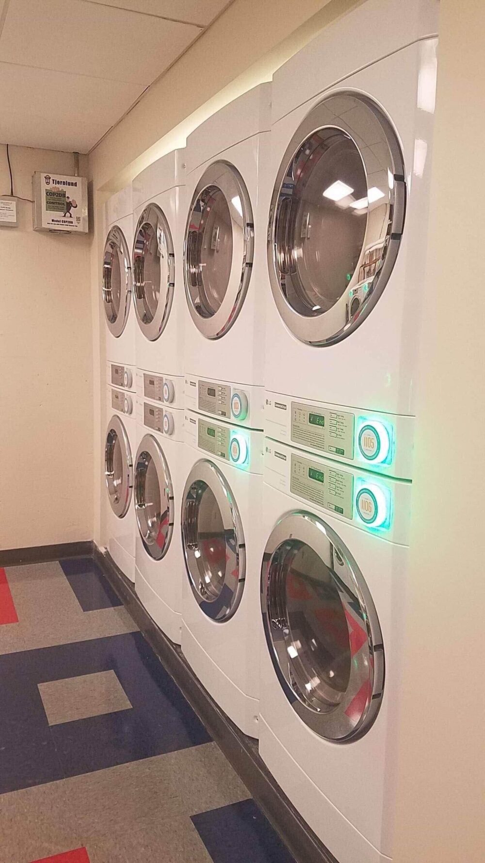 dryers in laundry room of dorm