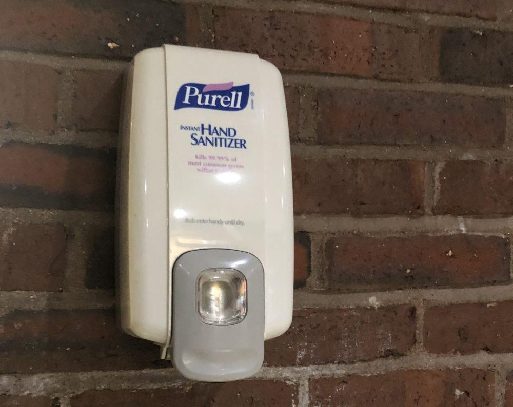 wall-mounted purell dispenser
